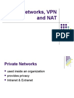 Private Networks VPN and NAT