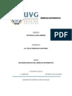 Unidad I NOCIONES BASICAS DEL DERECHO INFORMATICO