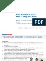 Prioridades 2015 - Ministra de Salud