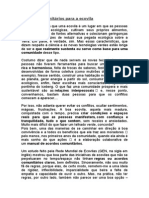 Acordos Comunitários Para a Ecovila