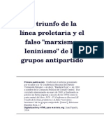 El Triunfo de La Línea Proletaria y El Falso Marxismo Leninismo