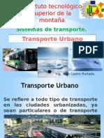 Transporte Urbano Sistemas de Transporte