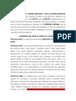 CAR¨SERVICIOS Y SUMINISTROS DARO-ACTA CONSTITUTIVA DE UNA EMPRESA DE COMPAÑIA ANONIMA C.A.