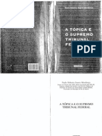 A Tópica E O Supremo Tirbunal Federal - Paulo Roberto Soares Mendonça