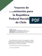Proyecto de Constitución Para La República Federal Socialista de Chile