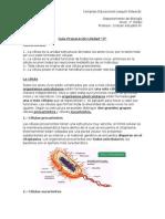 """Guía Biologìa Unidad """"0"""" 1ro Medio"""