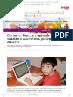 Curso de Galego,Catalao e Basco