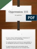 oppression 101