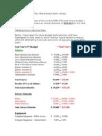 libr 204 assign 4 budget report