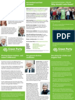 York Green Party leaflet (2015)