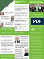 York Green Party leaflet (2015)