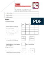 Evaluacion Planilla CIBELEC 2015
