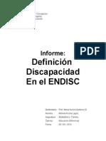 discapacidad ENDISC
