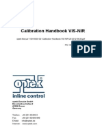 Optek Manual 1004 5003 02 Calibration Handbook VIS NIR US 2012-06-28