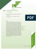 Cómo Facilitar La Modelización Científica en El Aula