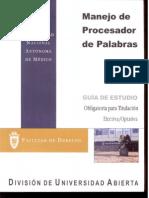 Manejo Del Procesador de Palabras. Obligatoria Para Titulacion
