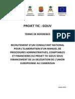 TDR Elaboration Manuel Procédures