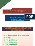 Conferencia  Legislación Educativa Zoilita Roa