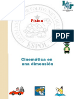 cinemática en 1 dimension
