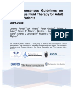 British Consensus Guidelines on Intravenous Fluid Therapy for Adult Surgical Patients Giftasup 2008