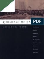 Ariel de La Fuente - Children of Facundo Caudillo and Gaucho Insurgency During the Argentine State-Formation Process (La Rioja, 1853-1870)