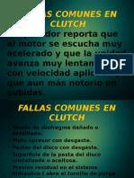Fallas Comunes en Clutch