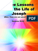 Three Lessons From the Life of Joseph