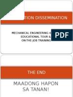Information Dissemination re