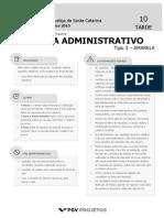 TJSC Analista Administrativo (Analista Administrativo) Tipo 3
