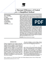 Monitoring Thermal Efficiency of Fouled Heat Exchangers
