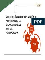 Metodologia Para Presentacion de Proyectos Obpp