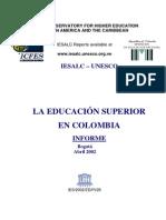 UNESCO Informe Educacion Superior en Colombia 2002