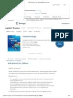 Marine Biology - Incl