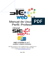 Manual SieWeb Intranet - Perfil - Profesor_V2-0