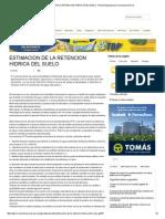 Estimacion de La Retencion Hidrica Del Suelo _ Revista Agropecuaria Conciencia Rural