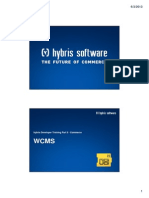 Hybris Developer Training Part II - Commerce - Module 09 - WCMS