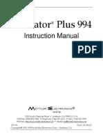 Sonicator994 manual