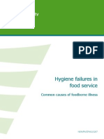 Hygiene Failures Food Service