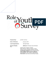 Role of Youth Findings