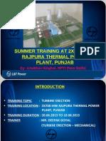 Presentation of Turbine Erection 1