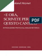 Roland Meynet E Ora, Scrivete Per Voi Questo Cantico. Introduzione Pratica All'Analisi Retorica-Edizioni Dehoniane (1996)