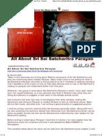 All About Sri Sai Satcharitra Parayan Shirdi Sai Baba Puja - Prayers