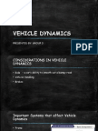 Vehicle Dynamics - Suspensions