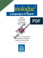 Ethno Logue Nepal Text No Print