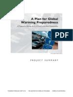 A Plan for Global Warming Preparedness