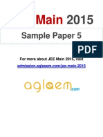 JEE Main 2015 Sample Paper 5