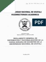 Reglamento General de Distri. y Racional. de La Carga Horaria Doc. de La Unu