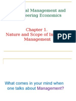 Chapter 1 Nature & Scope of Indust Mngt Ed1