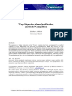 Economics - Wage Dispersion, Over-Qualification and Reder Competition