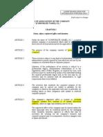 Estatutos Sociales (English Version)